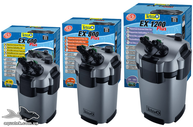 Tetra EX 600 Plus, Tetra EX 800 Plus, Tetra EX 1200 Plus