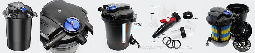 Напорный прудовый фильтр Sunsun CPA-30000 со встроенным UV стерилизатором 55W