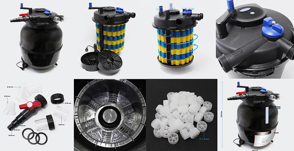 Напорный прудовый фильтр Sunsun CPF-50000 со встроенным UV стерилизатором 55W