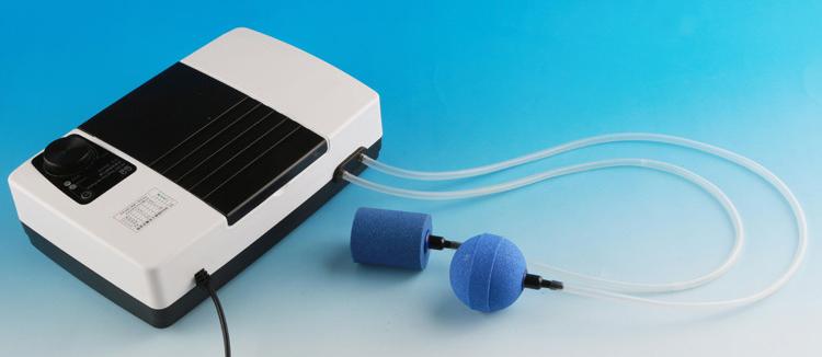 Sunsun YT-8000 - компрессор с аккумулятором для аквариума объемом до 300 литров с плавной регулировкой мощности воздушного потока