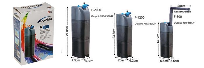 Аквариумные фильтры Dophin F800,F1200,F2000