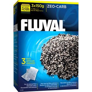 Наполнитель для внешних фильтров Fluval Zeo-Carb, 450 гр.