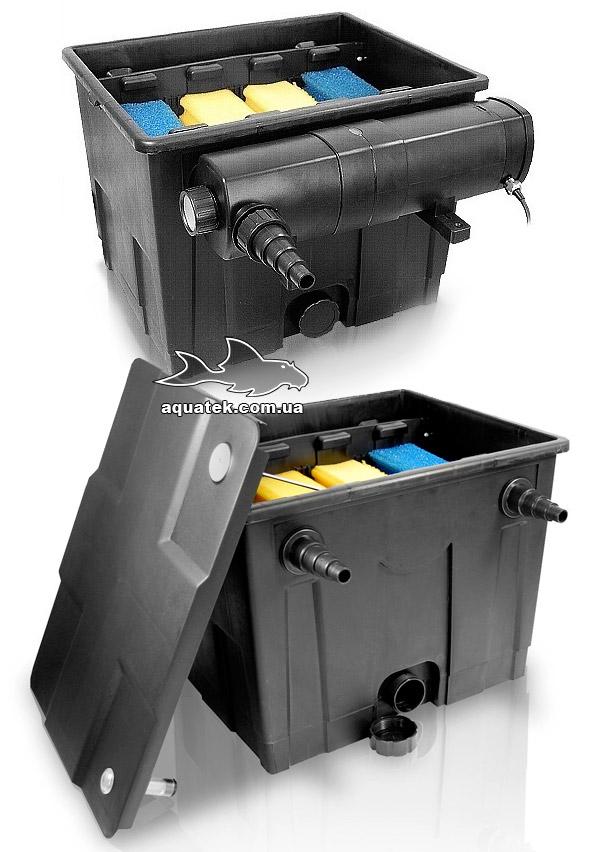 SunSun CBF 350-UV - проточный фильтр с УФ-стерилизатором 18Вт для пруда до 30000 литров.