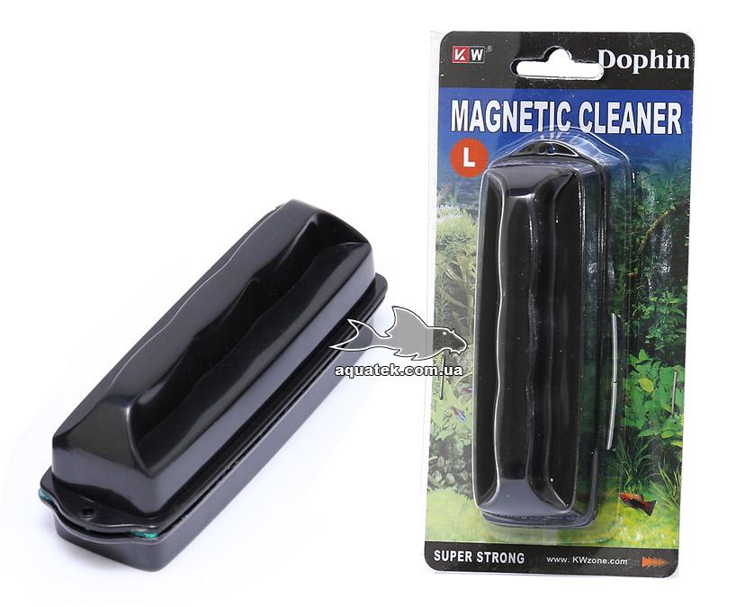 Dophin Magnetic Cleaner L - аквариумный магнитный очиститель (скребок), для стекол до 10 мм