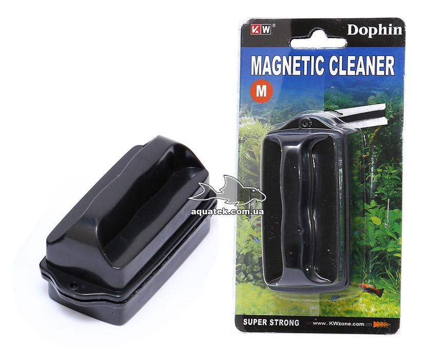 Dophin Magnetic Cleaner M - аквариумный магнитный очиститель (скребок), для стекол до 8 мм