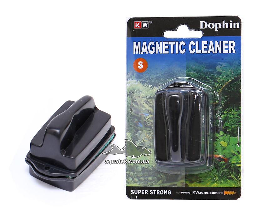 Dophin Magnetic Cleaner S - аквариумный магнитный очиститель (скребок), для стекол 4-5 мм