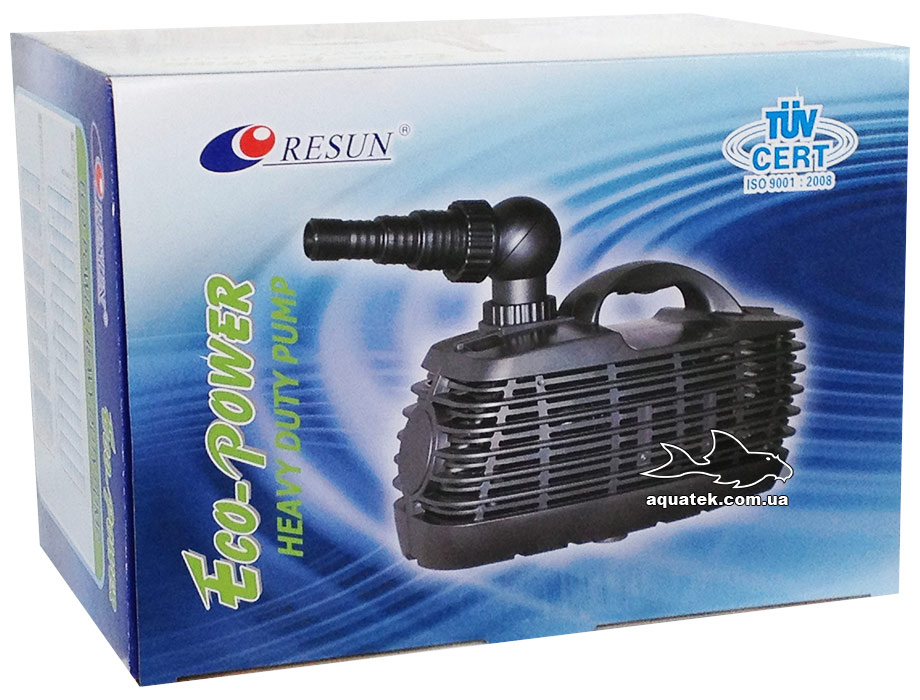 Resun Eco-Power EP-12000- сверхмощный насос для пруда. 12000 л/ч.
