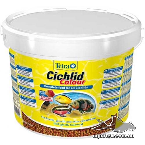 Корм Tetra Cichlid Colour 10 литров.