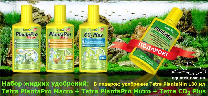 Комплект удобрений Tetra: Tetra CO2 Plus, Tetra PlantaPro Macro, Tetra PlantaPro Micro. В подарок Tetra PlantaMin 100 мл