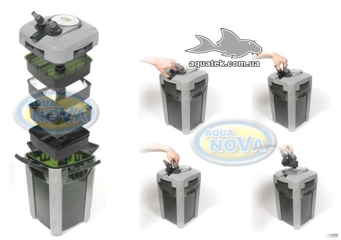 Внешний канистровый фильтр Aqua Nova (Аква Нова) NCF 600