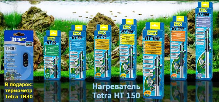 Tetra HT 150 - автоматический нагреватель с терморегулятором для аквариума 150-225 литров.