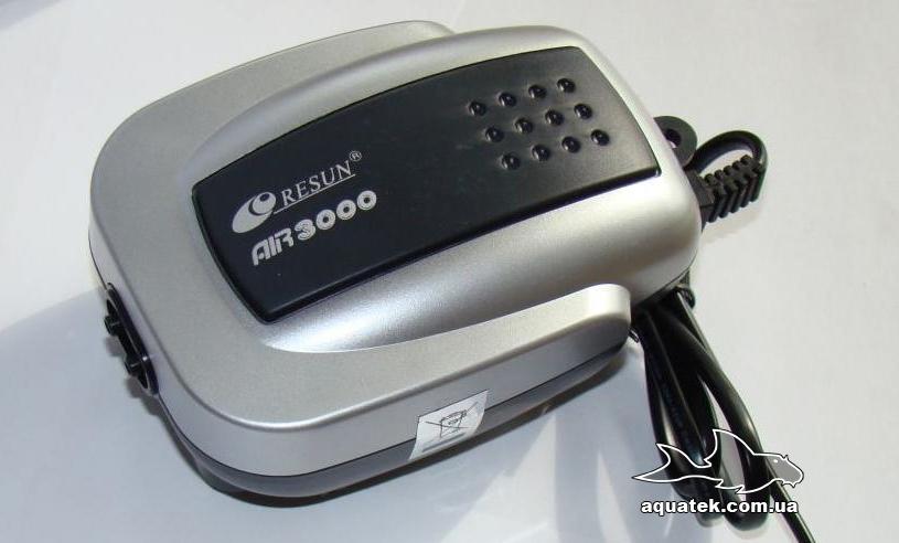 Resun AIR-3000 мембранный компрессор для аквариума объемом от 50 до 200 литров