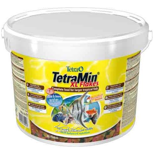 Корм TetraMin XL (крупные хлопья) 10 литров, 2100 грамм.