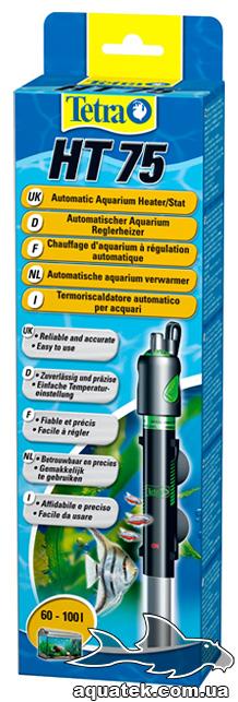 Tetra HT 75 - автоматический нагреватель с терморегулятором для аквариума 60-100 литров.